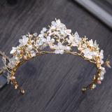 Beli Crown Model Korea Emas Mempelai Wanita Menikah Hiasan Rambut Seken