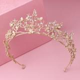 Spek Crown Model Korea Emas Ranting Pohon Bando Jenis Hiasan Rambut Oem