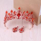 Berapa Harga Aksesoris Rambut Wanita Mahkota Pengantin Kristal Warna Merah Oem Di Tiongkok