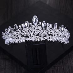 Diskon Produk Crown Untaian Manik Hand Made Bergaya Eropa Indah Model Mempelai Wanita Kristal Asesoris Kepala