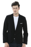 Jual Crows Denim Blazer Single Button Hitam Satu Set