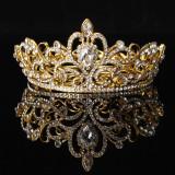 Kristal Berlian Imitasi Raja Mahkota Tiara Pernikahan Arak Arakan Pengantin Diamante Kesemarakan Keemasan Internasional Promo Beli 1 Gratis 1