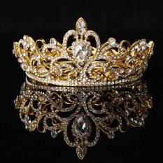 Beli Kristal Berlian Imitasi Raja Mahkota Tiara Pernikahan Arak Arakan Pengantin Diamante Kesemarakan Keemasan Internasional Secara Angsuran