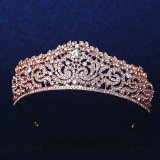 Jual Crystal Wedding Bridal Crown Rhinestone Party Pageant Tiara Hairband Rose Gold Intl Not Specified Grosir