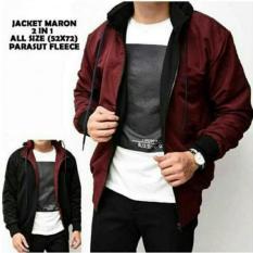 Jual Cs Jaket Parasut Bolak Balik Hitam Maroon Jaket Pria Original