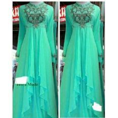 cs - maxi beauty dress elegant Tosca Muda bahan import fit to L bordir