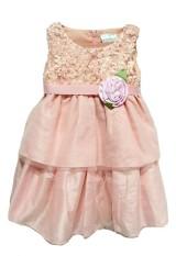 CSA Baju Anak - Peach Motif Bunga