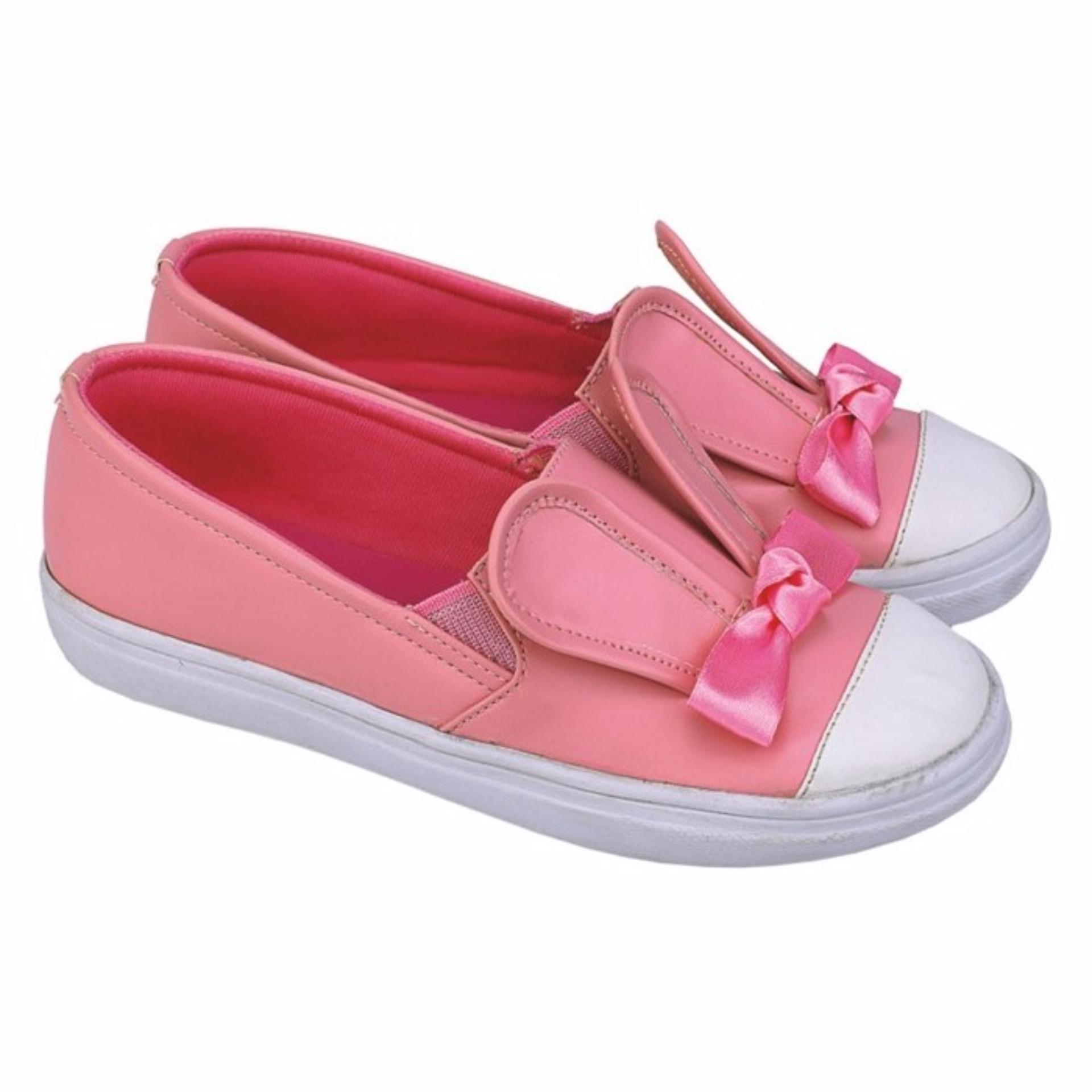 CTZ Jr Sepatu casual anak Perempuan / sepatu slip on anak Perempuan CRL 066 Pink