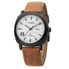 Jual Beli Curren Jam Tangan Pria Cokelat Strap Leather 8139 Leather Watch