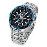 Toko Curren Jam Tangan Pria Silver Strap Stainless Steel Blue Luxury Sport Steel Watch Curren Online