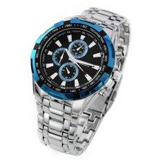 Spesifikasi Curren Jam Tangan Pria Silver Strap Stainless Steel Blue Luxury Sport Steel Watch Dan Harganya