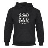 Beli Custom Don Dona Hoodie Route 666 Black Lengkap