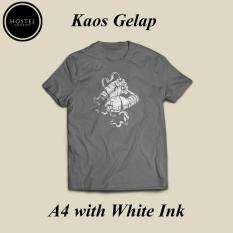 Custom Kaos Gildan Sablon Dtg A4 Satuan Desain Bebas Kaos Gelap - F0b5sy