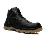 Daftar Harga Cut Engineer Berry Kulit Asli Safety Boots Iron Black Cut Engineer