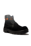 Promo Cut Engineer Boots Iron Safety Shoes Leather Hitam Murah