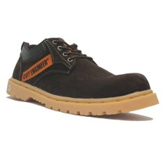 Harga Cut Engineer Classic Safety Rubber Low Boots Leather Brown Baru Murah