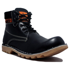 Review Cut Engineer Safety Boots Iron Prospector Leather Hitam Cut Engineer Di Jawa Barat