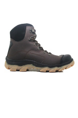 Spesifikasi Cut Engineer Safety Boots Lining Fosfor Leather Brown Yang Bagus