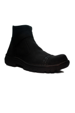 Jual Cut Engineer Safety Boots Slip On Zipper Classic Leather Black Cut Engineer Di Jawa Barat