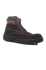 Toko Cut Engineer Shoes Iron Safety Boots Dark Brown Leather Cokelat Tua Jawa Barat