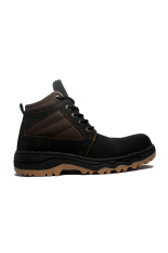 Review Toko Cut Engineer Stylish Safety Boots Iron Leather Hitam