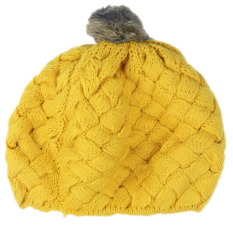 Beli Cute Baby Kids Girls Toddler Winter Warm Knitted Crochet Beanie Hat Cap Yellow Murah Di Tiongkok