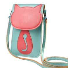 Cute Kartun Purse Bag Leather Cross Body Shoulder Phone Coin Bag-Intl