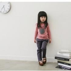 Harga Cute Children Pakaian Gadis Indah T Shirt Kemeja Lengan Panjang Pink Oem Online