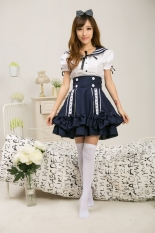 Toko Lucu L*l*t* Gadis Lady Sailor Suit Dress Navy A Tops Rok Seragam Sekolah Intl Lengkap