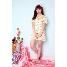 Jual Cute Piyama Pendek Yellow Pakaian Tidur Baju Tidur Piyama Wanita Antik