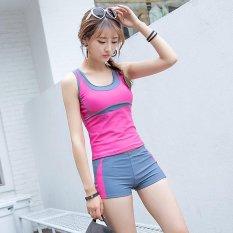 Cute Slim Style Women's Dua Potong Suit Pakaian Renang & Siswa Lucu Pakaian Renang-Pink- INTL