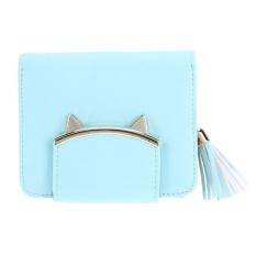 Harga Cute Tassel Women Leather Mini Wallet Women Clutch Purse Coin Card Holder Green Intl Asli