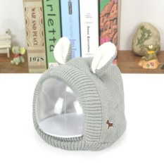 Kidlove Cute Winter Autumn Baby Hat Cartoon Dog Style Earmuffs Hat Knitted Cap for Infant Kids Neck Warmer Caps Birthday Christmas Gift Color:gray Specification:50-54cm (2-8 years old)