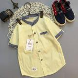 Cutevina Boys Fashion 2Collors Short Sleeves Shirt Kemeja Anak Lengan Pendek 2 9Th Kuning Gz17038 Terbaru