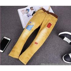 Spesifikasi Cutevina Boys Fashion Long Jeans Celana Panjang Anak 6 11Th Kuning Bc17015 Yang Bagus