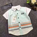 Daftar Harga Cutevina Boys Fashion Short Sleeves Shirt Kemeja Anak Lengan Pendek 2 9Th Green Gz17035 Cutevina
