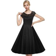 Harga Cyber Acevog Wanita Lengan Topi Baju 1950 S Gaya Vintage Yang Renda Nikah Gaun Ayun Pesta Midi New