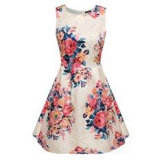 Harga Cyber Acevog Wanita Sleeveless Bunga Malam Pesta Cocktail Garden Bubble Dress Apricot Acevog Terbaik