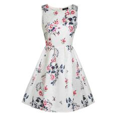 Cyber ACEVOG Wanita Sleeveless Bunga Malam Pesta Cocktail Garden Bubble Dress (Putih)
