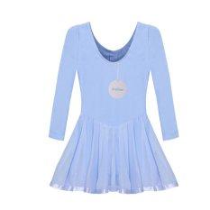 Cyber Arshiner Anak Cewek Lengan Panjang Gaun Terusan Berseluncur Ballroom Tari Balet