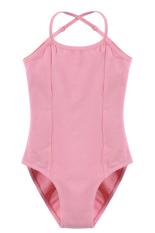 Jual Cyber Arshiner Gadis Tanpa Lengan Elastis Dancewear Senam Balet Adjustable Strap Leotard Pink Oem Original
