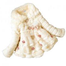 Cyber Children S Toddlers Girls Junoesque Baby Faux Fur Fleece Lined Coat Party Pageant Winter Warm Jacket Snowsuit Beige Diskon Akhir Tahun