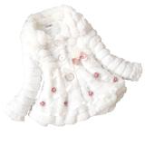 Promo Cyber Anak Anak Balita Gadis Junoesque Baby Faux Fur Fleece Lined Coat Partai Kontes Jaket Hangat Musim Dingin Snowsuit Putih Oem