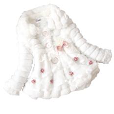 Beli Cyber Anak Anak Balita Gadis Junoesque Baby Faux Fur Fleece Lined Coat Partai Kontes Jaket Hangat Musim Dingin Snowsuit Putih Baru