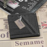 Cyber Clearance Sale New Fashion Pria Canvas Patchwork Jahitan Dompet Intl Di Hong Kong Sar Tiongkok