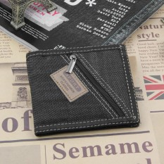 Promo Cyber Clearance Sale New Fashion Pria Canvas Patchwork Jahitan Dompet Intl Murah