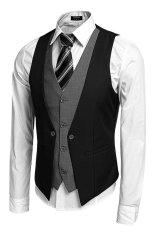 Spesifikasi Cyber Coofandy Pria Bisnis Formal Suit Vest Hitam Baru