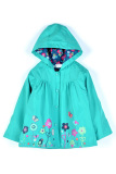 Harga Cyber Gadis Anak Anak Lucu Cetak Hooded Lengan Panjang Jaket Waterproof Biru Murah