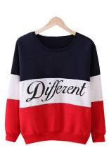 Beli Childrens Cyber Korea Huruf Cetak Campuran Berbeda Kasual Sweater On Longgar Atasan Kaos Kerudung Hitam Oem