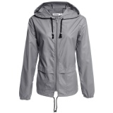 Jual Cyber Meaneor Women S Lightweight Waterproof Outdoor Hoodie Raincoat Cycling Running Sport Jacket Grey Intl Not Specified Di Indonesia